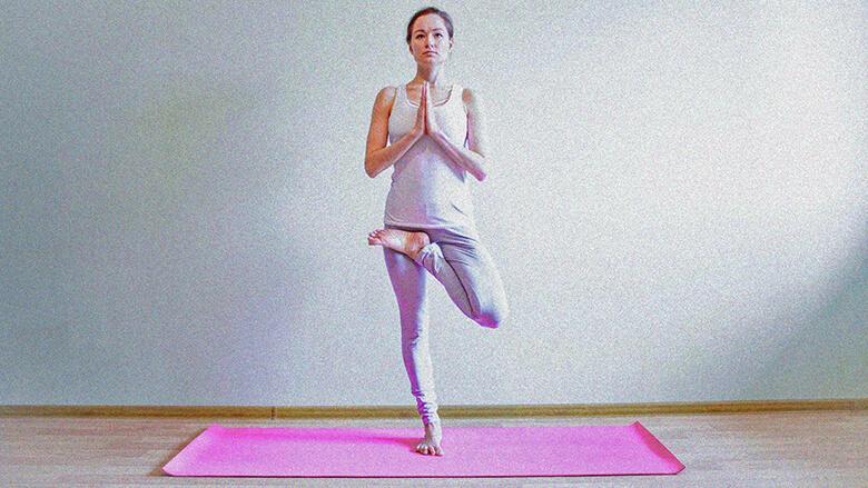 Хатха йога поза дерева