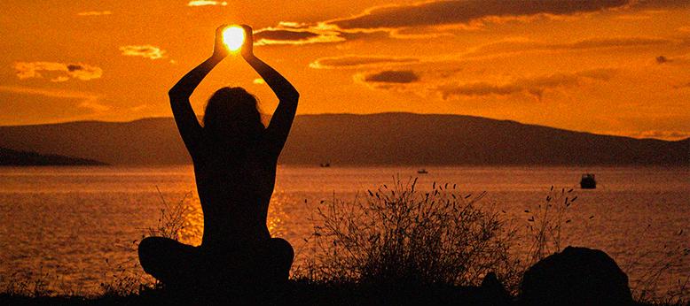 йога на закате