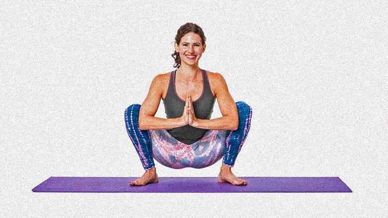 маласана поза гирлянды в йоге фото